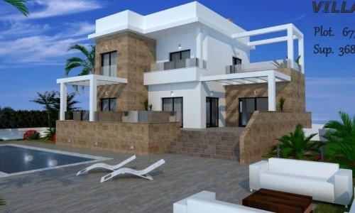 Строительство новых вилл в 100м от пляжа в Ла Зения